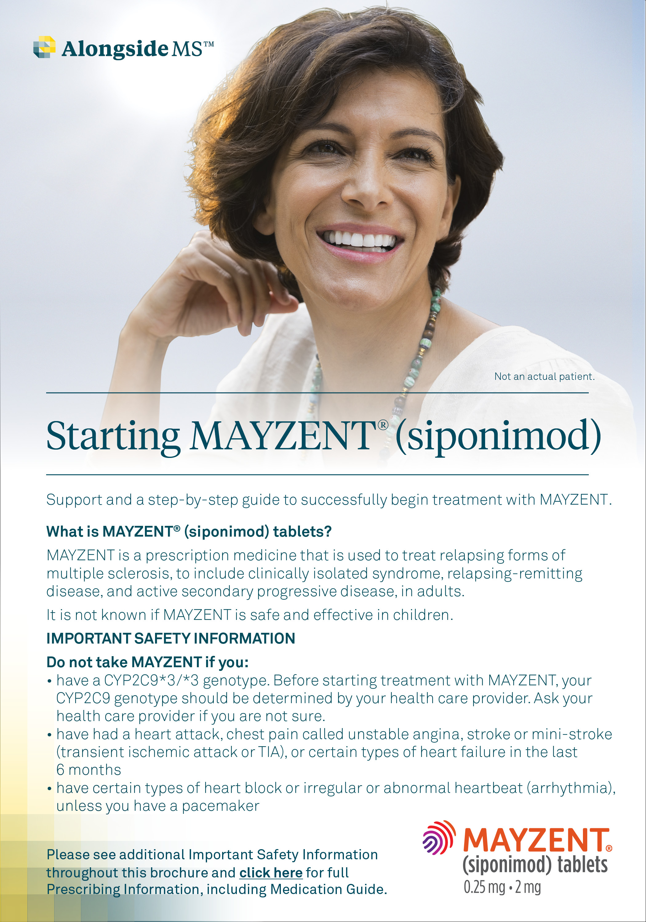 Getting Started on Mayzent Brochure Download